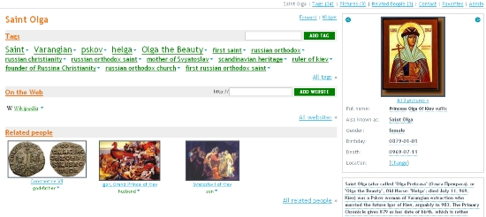 Saint Olga's Profile Page